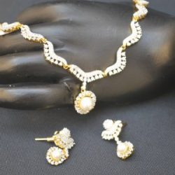 artificial white pearls ad necklace set-1
