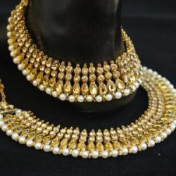 Imitation Jewellery Bollywood Golden Stone Studded Payal