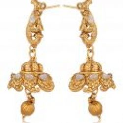 Imitation artificial golden copper base south Indian temple jewelry set for women-1