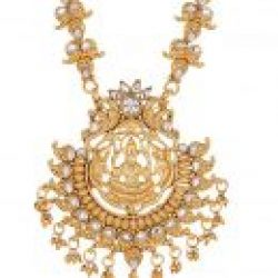 Imitation artificial golden copper base south Indian temple jewelry set for women
