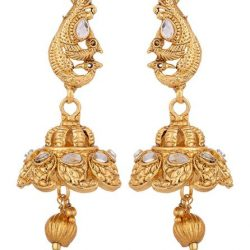 Imitation artificial golden copper base south temple jewelry set for women-2