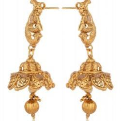 Imitation artificial traditional south indian temple jewelry in gold tone jewelry set for women-1