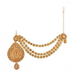 Imitation Glorious Head Piece in Gold Tone