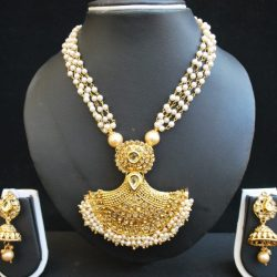 Imitation jewellery clustered pearls multiLayer necklace set-2