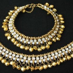 Imitation Perfect anklets with white stones for any celebrations-1
