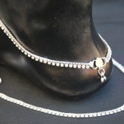 Imitation Silver Base Metal Anklet for Women-1