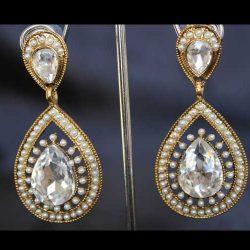 Imitation smart stone earrings-2