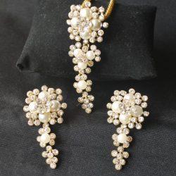 Imitaton reeti fashions – golden pendant set with diamond-2