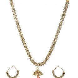 artificial sarwoski style bronze necklace set