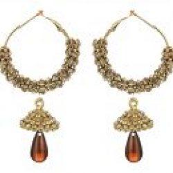artificial sarwoski style bronze necklace set-1