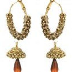 artificial sarwoski style bronze necklace set-2