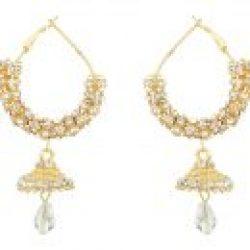 artificial sarwoski style white necklace set-2