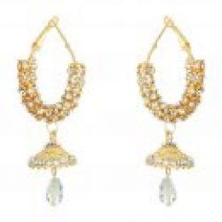 artificial sarwoski style white necklace set-1