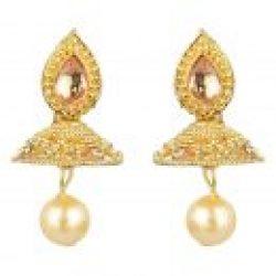 artificial golden short necklace necklace set-2