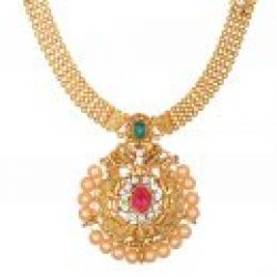 artificial beautiful golden necklace set-1