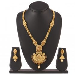 Imitation artificial jewellery gorgeous long haram necklace set