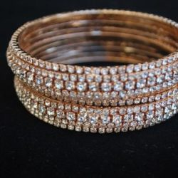 White dimond design bangles