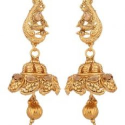 Imitation artificial traditional south indian temple jewelry in gold tone jewelry set for women-2