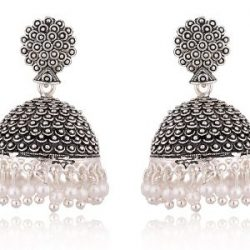 artificial black oxidized jhumki earrings for women