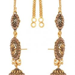 artificial traditional base metal jhumki Earrings with full ear cover for women