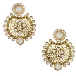 Pearl Meenakari earrings