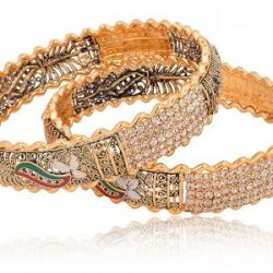 Traditional Gold Base Metal Bangle Set for Women-2